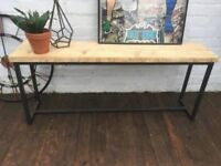 Revolution Bench in Steel and Wood - Reclaimed Wood - Free Delivery - New