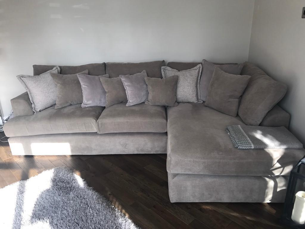 Next Home Stratus V Large Chaise End Corner Sofa Right Hand 4 Seats