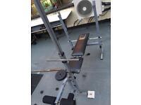 Tunturi cable machine and some weights
