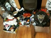 Three boxes halloween decorations