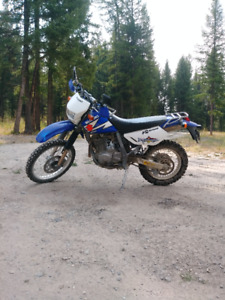 Dual sport on/off road motorcycle