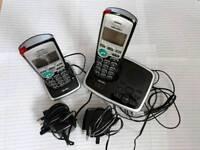 Bush Twin Cordless Telephones inc Answer Machine