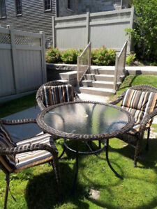 COMPLETE PATIO TABLE SET