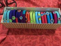Indian silk thread fashion bangles and earrings..