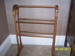 wooden blanket stand