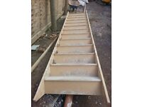 Used softwood staircase for sale. £60.00. Costs £175.00 new.