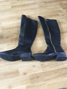 Black over the knee boot size 8