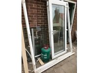 UPVC External Patio French Door. White. 171cm Wide x 204cm High. Double Glazed