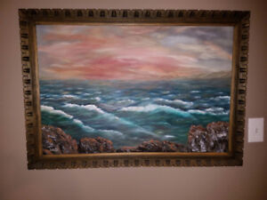 Original Oil Painting with a Wood Frame