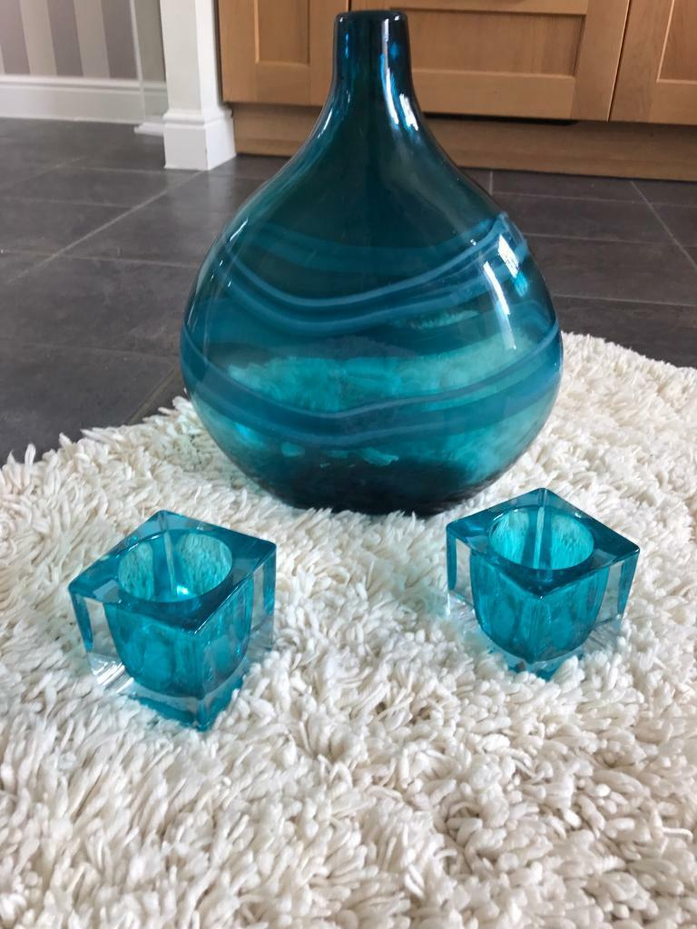 Next teal glass vase and tea light holders in birchgrove next teal glass vase and tea light holders reviewsmspy