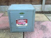 Lockable steel box