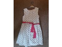 GIRLS JOULES SPOTTY PARTY DRESS SIZE 7 YEARS