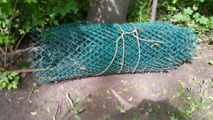 Plastic coated steel fencing (100ft)