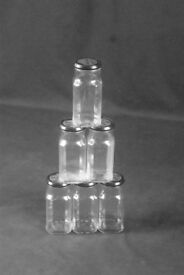 GLASS JARS with LIDS