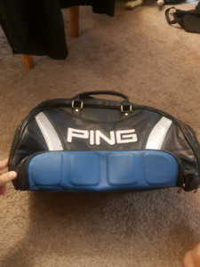 Ping Leather Golf Shoe Duffle Accessory Bag