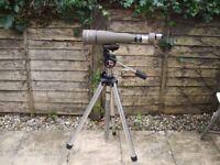Opticron Polerex scope 70mmx 24 with tripod superb optics