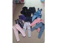 GIRLS large bundle of trousers size 4-5 years