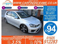 2015 VW GOLF R 2.0 TSI 4X4 DSG GOOD / BAD CREDIT CAR FINANCE FROM 94 P/WK