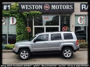 2014 Jeep Patriot North *SPORT *4WD *AUTO *BLUETOOTH *FULLY EQUI