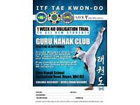 ITF Taekwondo Classes - 1 week free no obligation trial
