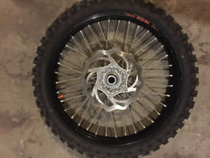 2 excel front rims and tires for KTM