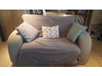 2 seater sofa - comfortable sofa with optional footstool included