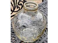 Large round glass vase / candle holder