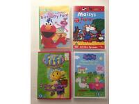 Kids DVDs Peppa Pig, Maisy, Fifi and Elmo 4hrs