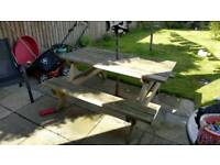Solid picnic table