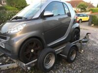 Woodford Braked Smart Car Trailer for sale.