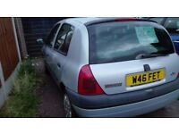 Y plate Clio. Good runner, MOT November, needs some TLC