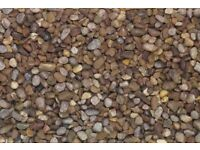 1 ton 10 or 20mm garden gravel pebbles