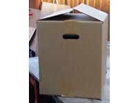 Packing/storage boxes various sizes.