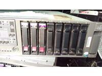 HP Data Domain Server DL380G5 ProLiant 8 Port Quad Core 2.66Ghz Processor x 2 1.044TB Drive