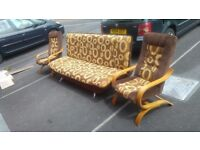 Sofa bed with two chair