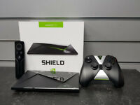 boxed nvidia shield media streamer,top condition with remote control and game controller
