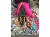 Barbie sister/cousin camping set