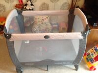 Graco Contour Electra travel cot and Mothercare 3 position carrier