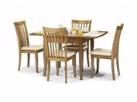 Ex Display Julian Bowen Newbury Dining Table & 4 Chairs Can Deliver View Collect Kirkby NG177