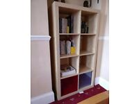Ikea bookcase / storage unit with storage boxes