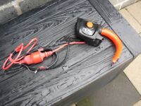 Electric lawnmower hand controls