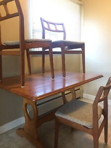 Solid wood Kitchen table and three chairs