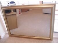 Large Gold Framed Rectangular Mirror 105 x 75cm