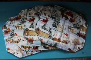 Christmas/Winter Scene Placemats