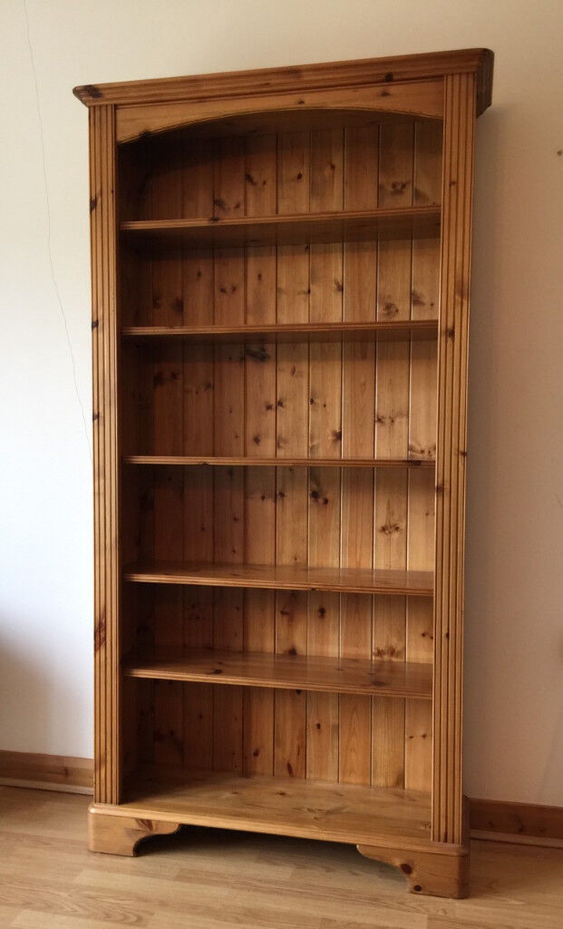 living bookcase pine montreal ez solid dark furniture