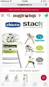 Chicco 3 in 1 stack multi highchair