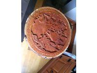 Beautiful Carved Asian Circular Gateleg Table - INCREDIBLE VALUE.......