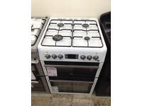 White Beko gas cooker. 4 ring hob. 12 month gtee