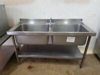 Stainles stail sink commercial catering pubs cafe resturant hotels