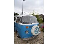 1972 VW T2 Campervan. RH drive. Good Condition. MOT July 2018. Low mileage on reconditioned engine.